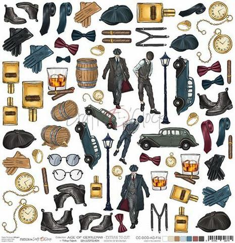 Craft O'clock skräppipaperi Age of Gentleman, Extras To Cut