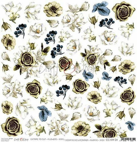 Craft O'clock skräppipaperi Lovely When You Smile, Extras To Cut Flowers XXIV