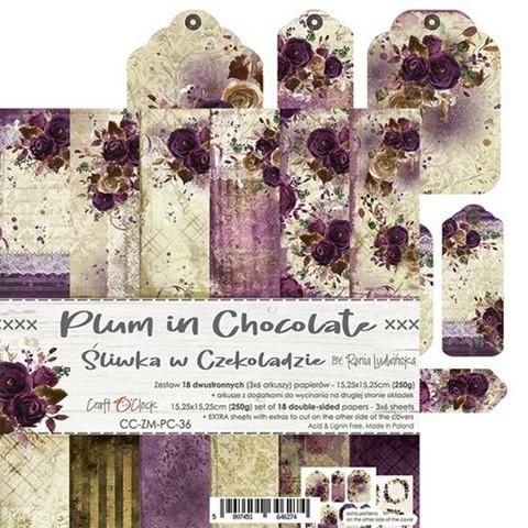 Craft O'clock paperipakkaus Plum In Chocolate