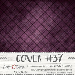 Craft O'clock Cover -paperi 37, Plum In Chocolate 60 x 24.2 cm