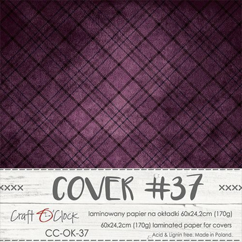 Craft O'clock Cover -paperi 37, Plum In Chocolate 60 x 24.2 cm