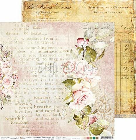 Craft O'clock skräppipaperi Vintage Treasure 05