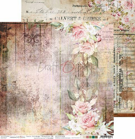 Craft O'clock skräppipaperi Vintage Treasure 06