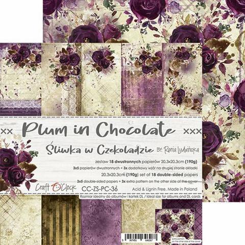 Craft O'clock paperipakkaus Plum In Chocolate, 8