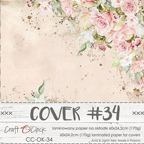 Craft O'clock Cover -paperi 34, Vintage Treasure 60 x 24.2 cm