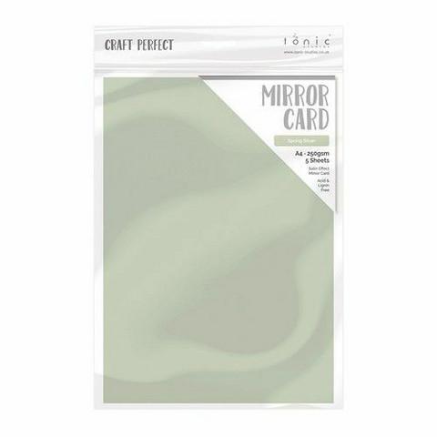 Tonic Satin Effect Mirror Card -peilikartonki, sävy Spring Silver, 5 arkkia