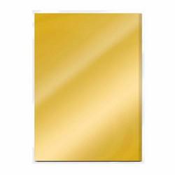Tonic Satin Effect Mirror Card -peilikartonki, sävy Gold Pearl, 5 arkkia