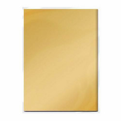 Tonic Satin Effect Mirror Card -peilikartonki, sävy Honey Gold 5 arkkia