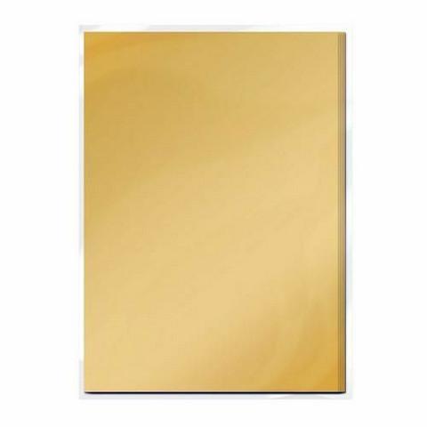 Tonic Satin Effect Mirror Card -peilikartonki, sävy Honey Gold 5 arkkia
