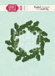 Craft & You stanssi Conifer Wreath