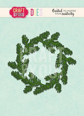 Craft & You stanssi Conifer Wreath