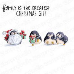 Stamping Bella Penguin Family -leimasinsetti