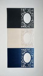 Helmiäiskorttipohjat, laserleikattu, 10 x 15 cm, 3 kpl