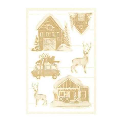 P13 Light Chipboard -koristeet Four Seasons, Winter