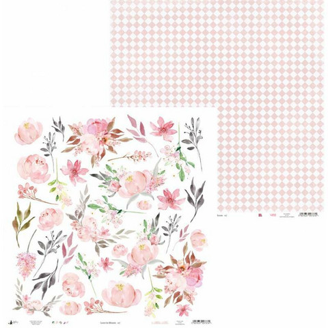 P13 skräppipaperi Love In Bloom, 07