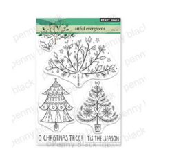 Penny Black Artful Evergreens -leimasinsetti