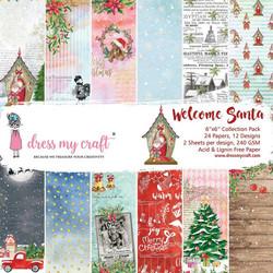 Dress My Craft paperipakkaus Welcome Santa