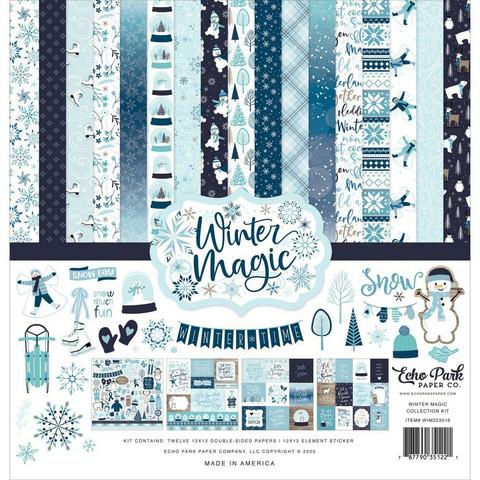 Echo Park Winter Magic -paperipakkaus, 12