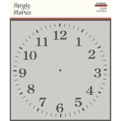 Simple Stories sapluuna Clock