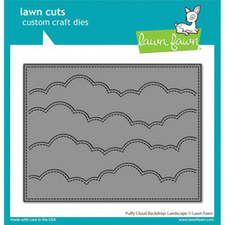Lawn Fawn stanssi Puffy Cloud Backdrop, Landscape