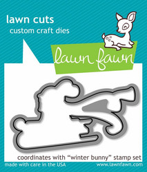 Lawn Fawn stanssi Winter Bunny