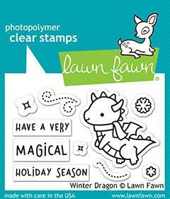 Lawn Fawn leimasin Winter Dragon