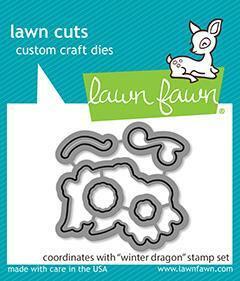 Lawn Fawn stanssi Winter Dragon