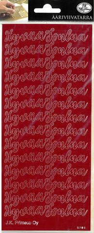 Ääriviivatarra, Hyvää Joulua, punainen