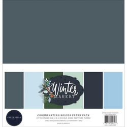 Carta Bella Winter Market, Solids -paperipakkaus, 12