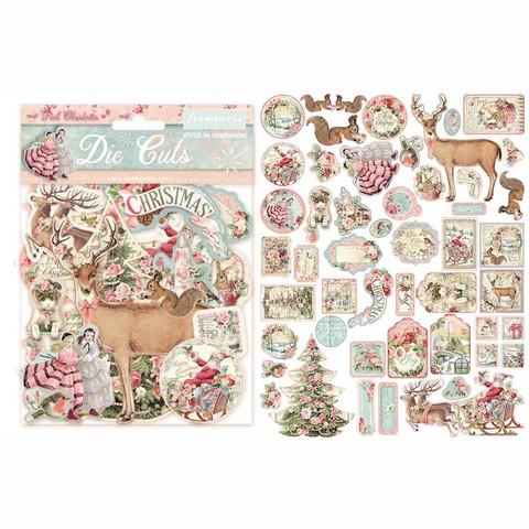 Stamperia leikekuvat Pink Christmas