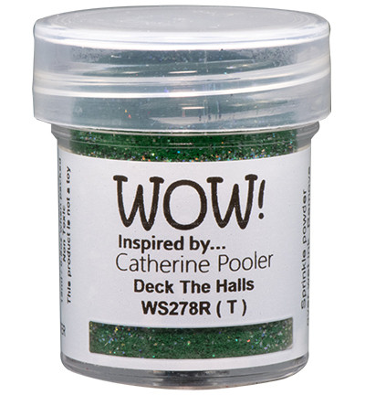 Wow! Embossing Glitters -kohojauhe, sävy Deck The Halls by Catherine Pooler (T)