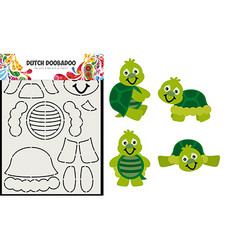 Dutch DooBaDoo Card Art Turtle -sapluuna