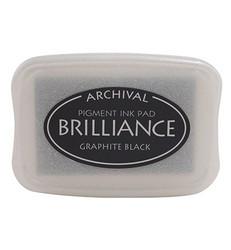 Tsukineko Brilliance -mustetyyny, sävy Graphite Black