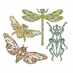 Sizzix Tim Holtz Thinlits stanssisetti Geo Insects
