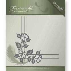 Jeanines Art With Sympathy stanssi Rose Corner