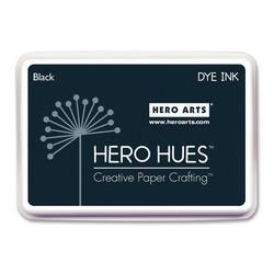 Hero Hues Dye Ink -mustetyyny, sävy Black (musta)