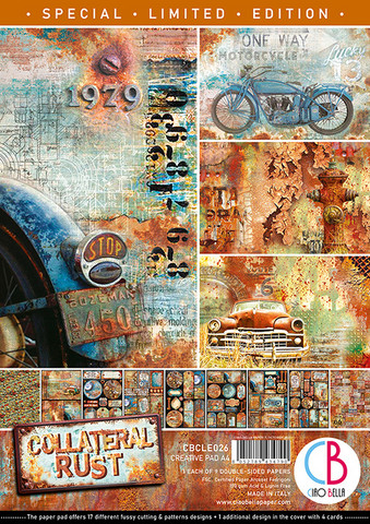 Ciao Bella Creative Pad Limited Edition paperipakkaus Collateral Rust