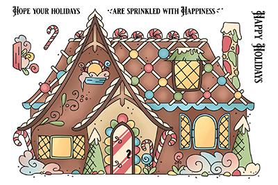 LDRS Creative leimasinsetti Gingerbread House