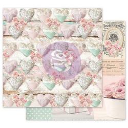 Prima Sugar With Love -skräppipaperi Stitched Hearts