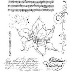 Stampers Anonymous, Tim Holtz leimasinsetti The Poinsettia