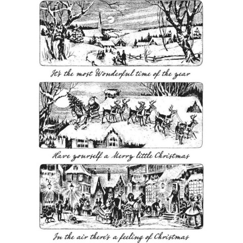 Stampers Anonymous, Tim Holtz leimasinsetti Holiday Scenes