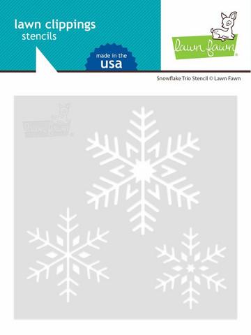 Lawn Fawn sapluuna Snowflake Trio
