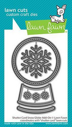 Lawn Fawn stanssisetti Shutter Card Snow Globe Add-On