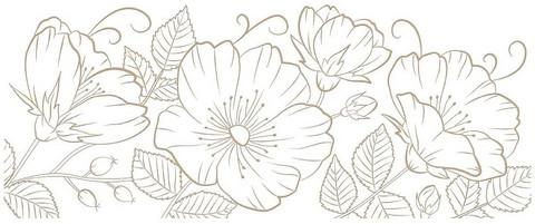 Spellbinders Glimmer Hot Foil -kuviolevy Sweet Blooms Border