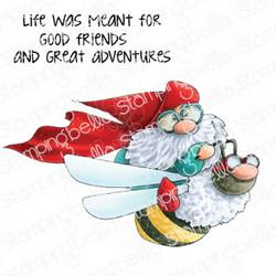 Stamping Bella Flying Gnome -leimasinsetti