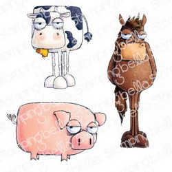 Stamping Bella Oddball Farm Animals -leimasinsetti