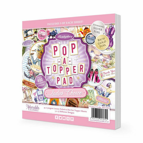 Hunkydory Pop-A-Topper -korttikuvapakkaus Ladies Choise