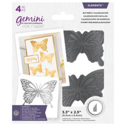 Gemini Foil Stamp 'N' Cut Die - leikkaava kuviolevy Butterfly Kaleidoscope