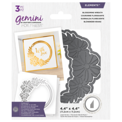 Gemini Foil Stamp 'N' Cut Die - leikkaava kuviolevy Blossoming Wreath
