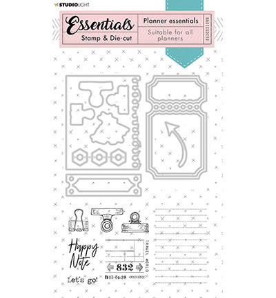 Studio Light stanssi- ja leimasinsetti Planner Essentials 52